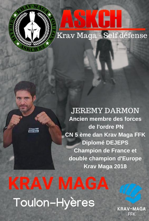 Krav Maga Toulon Hyères : Jérémy DARMON